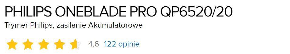 Philips OneBlade Pro QP6520 - opinie użytkowników