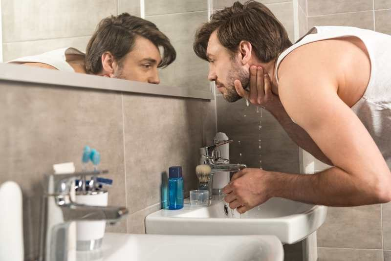 mycie brody