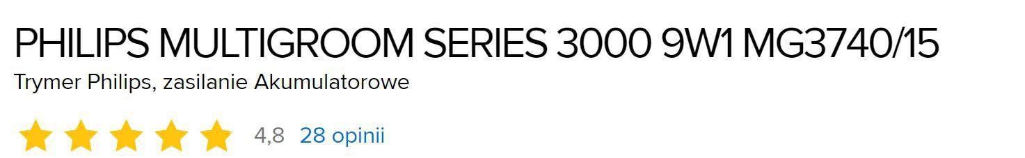 Philips multigroom series 3000 opinie użytkowników